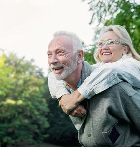 elder couple enjoying life