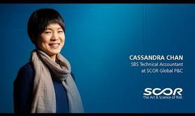 Cassandra Chan, Technical Accountant at SCOR Global P&C, Beijing Branch.