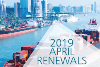 Desktop visual for April 2019 P&C Renewal Results