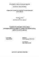 Visual for Verso standard contabili internazionali per le assicurazioni vita. Aspetti attuariali