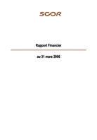 Visual for Rapport semestriel - 31 mars 2006
