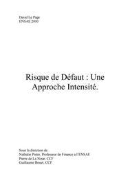 Visual for Modélisation du risque de défaut : une approche intensité
