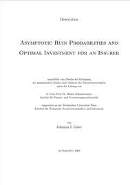 Visual for Asymptotische Ruinwahrscheinlichkeit und optimale Investition für einen Versicherer