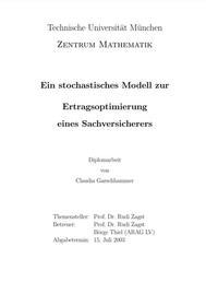 Visual for Ein stochastisches Modell zur Ertragsoptimierung eines Sachversicherers