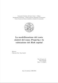 Visual for Actuarial award 2010 - Italy - The Evaluation of the cost of claims in Property and the assessment of risk capital