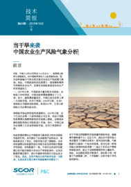 Visual for Technical Newsletter #49 - When drought strikes - Chinese version