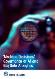 Visual for 'Machine Decisions': Governance of AI and Big Data Analytics