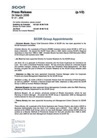 Visual for SCOR Group Appointments