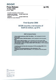 Visual for 2006 First Quarter Results