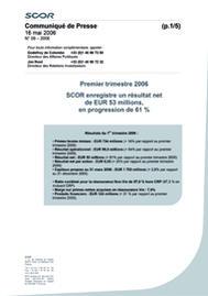 Visual for Résultats du premier trimestre 2006