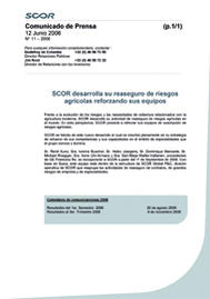 Visual for SCOR develops its agricultural risk reinsurance with the reinforcement of its teams - Spanish version