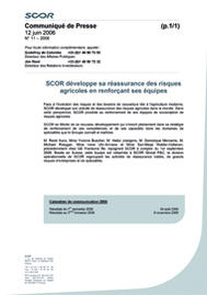 Visual for SCOR développe sa réassurance des risques agricoles en renforçant ses équipes