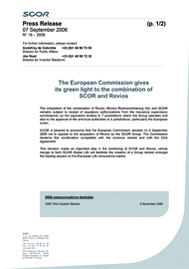 Visual for The European Commission gives its green light to the combination of SCOR and Revios