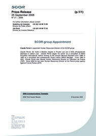 Visual for SCOR group Appointment