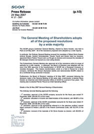 Visual for The General Meeting of Shareholders adopts all of the proposed resolutions