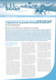 Visual for Lessons for Insurance: Risk Management and Engineering in the major Earthquakes of 2010-2011- Spanish version