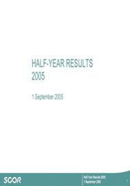 Visual for 2005 Half-Year Results