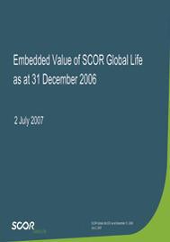 Visual for SCOR Vie Embedded Value 2006
