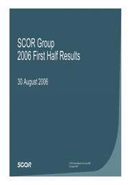 Visual for 2006 First Half Results