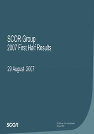 Visual for 2007 First Half Results
