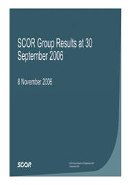 Visual for Results for the First Nine Months to 30 September 2006