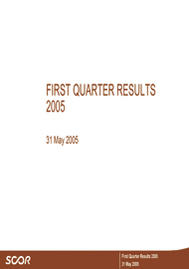 Visual for 2005 Q1 Results