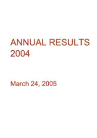 Visual for 2004 Annual Results