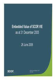 Visual for 2005 - Embedded Value Presentation