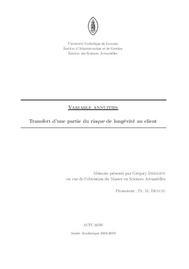 Visual for Actuarial award 2009 - France - Variable Annuities : transfert d'une partie du risque de longévité au client