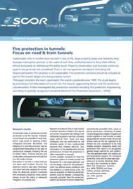 Visual for Technical Newsletter - Fire protection in tunnels: Focus on road & train tunnels