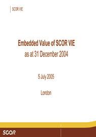 Visual for 2004 - Embedded Value Presentation