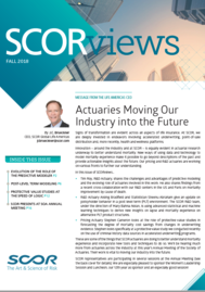 Visual for SCORviews - Fall 2018 - Actuaries Moving Our Industry into the Future