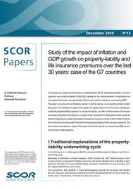 Visual for SCOR Paper #12 - Study of the impact of inflation and GDP growth on property-liability and life insurance premiums over the last 30 years: case of the G7 countries