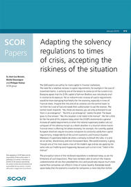 Visual for SCOR Paper #6 - Adapting the solvency regulations to times of crisis, accepting the riskiness of the situation